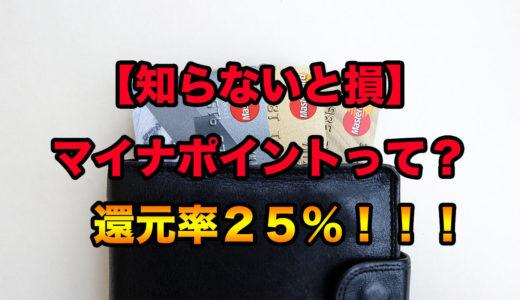マイナポイント、還元がお得!25%、最大5000円キャッシュバック!登録方法は?いつから?【知らないと損】【マイナンバーカード】